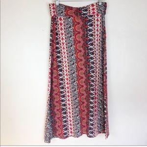 Brat Star Mandala Print Maxi Skirt Size M/L
